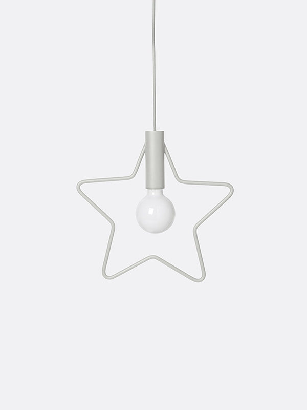 Star Pendant - Light Grey