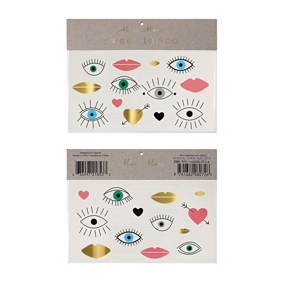 Temporary Tattoos - Eyes & Hearts