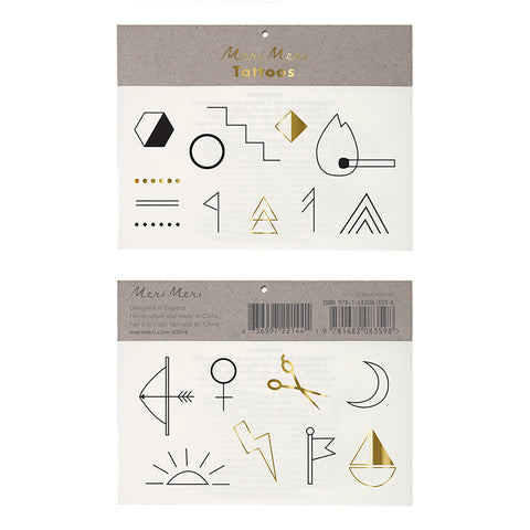 Temporary Tattoos - Symbol & Shapes