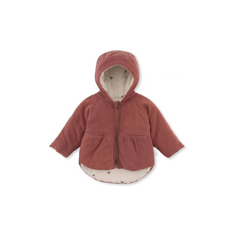 Hooded Jacket - Thea - Cherry Lining