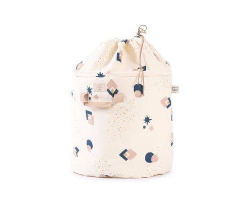 Toy Bag - Bamboo - Night Blue Eclipse/ Natural