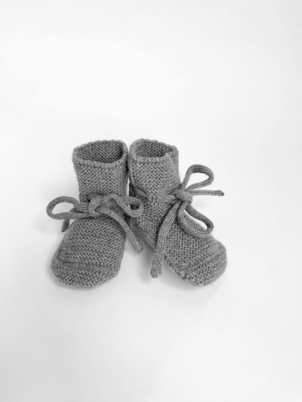 Baby Booties With Lace - Otter