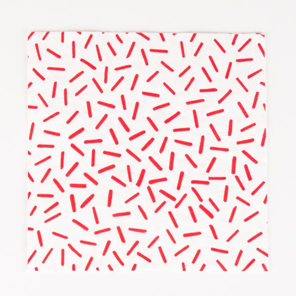 Paper Napkins - Red Sprinkle