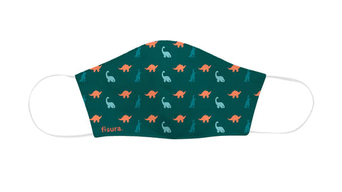 Kids Reusable Face Mask - 3 Layer - Dinosaur