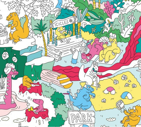 Giant Colouring Poster - Recycled Paper - Dinausors