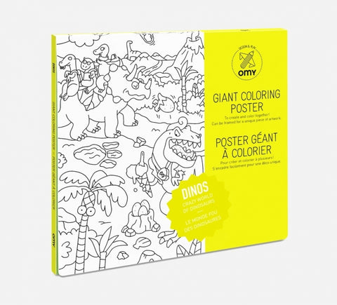 Giant Colouring Poster - Recycled Paper - Dinosaurs