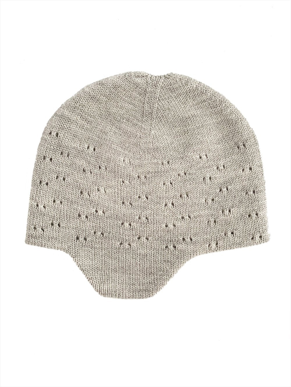 Reversible Hat - Merino Wool - Dua - Grey Melange