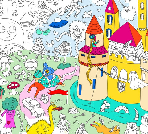 Giant Colouring Poster - Recycled Paper - Magic