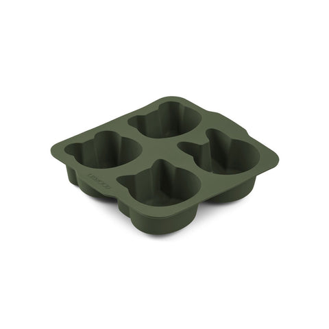Cake Pan - Silicone - Hunter Green & Mustard Mix