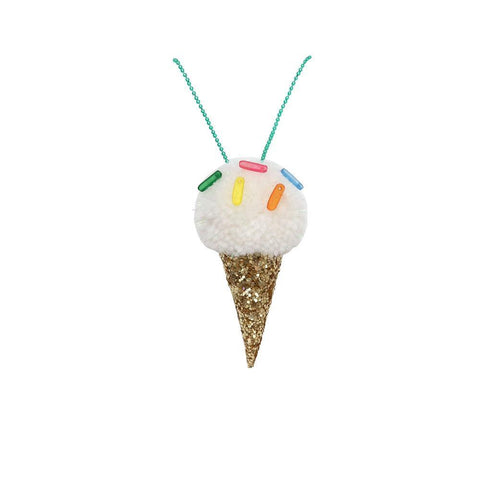 Necklace - Ice Cream Pom Pom