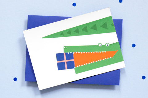 Greeting Card - Crocodile