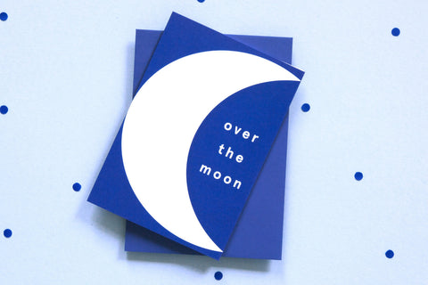 Greeting Card - Over The Moon