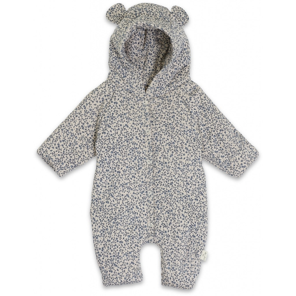 Onesie with Hood - Padded - Blue Blossom Mist