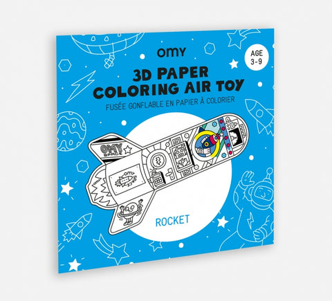 3D Air Colouring In Toy - Rocket