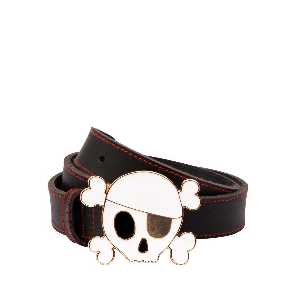 Belt - Skull - Black Leather
