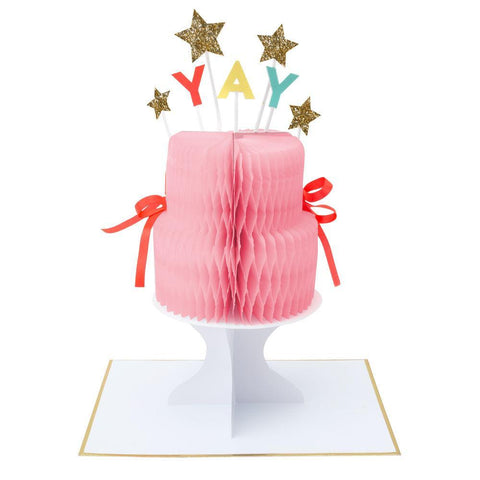 Greeting Card - Happy Birthday - Cake Stand-Up Card