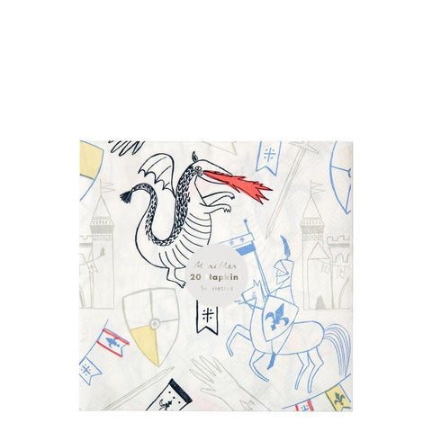Napkins - Knights & Dragons - Large