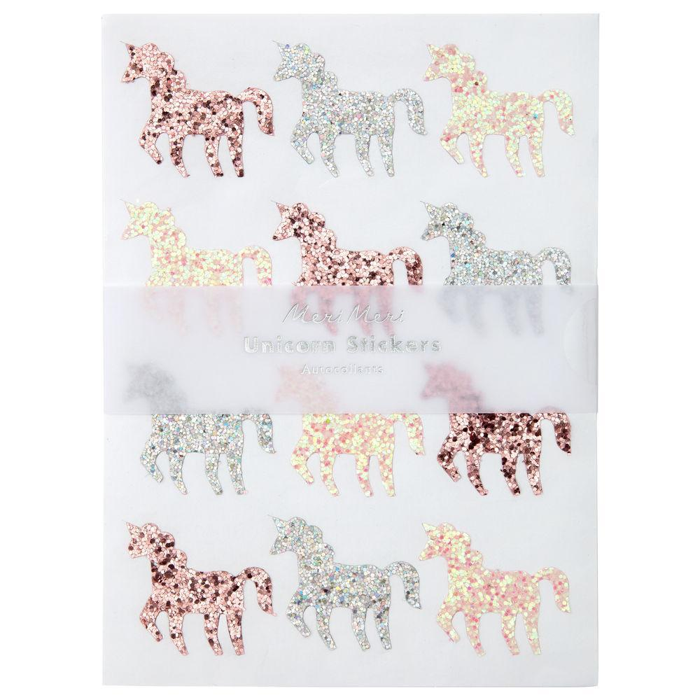 Sticker Sheets - Glitter Unicorns