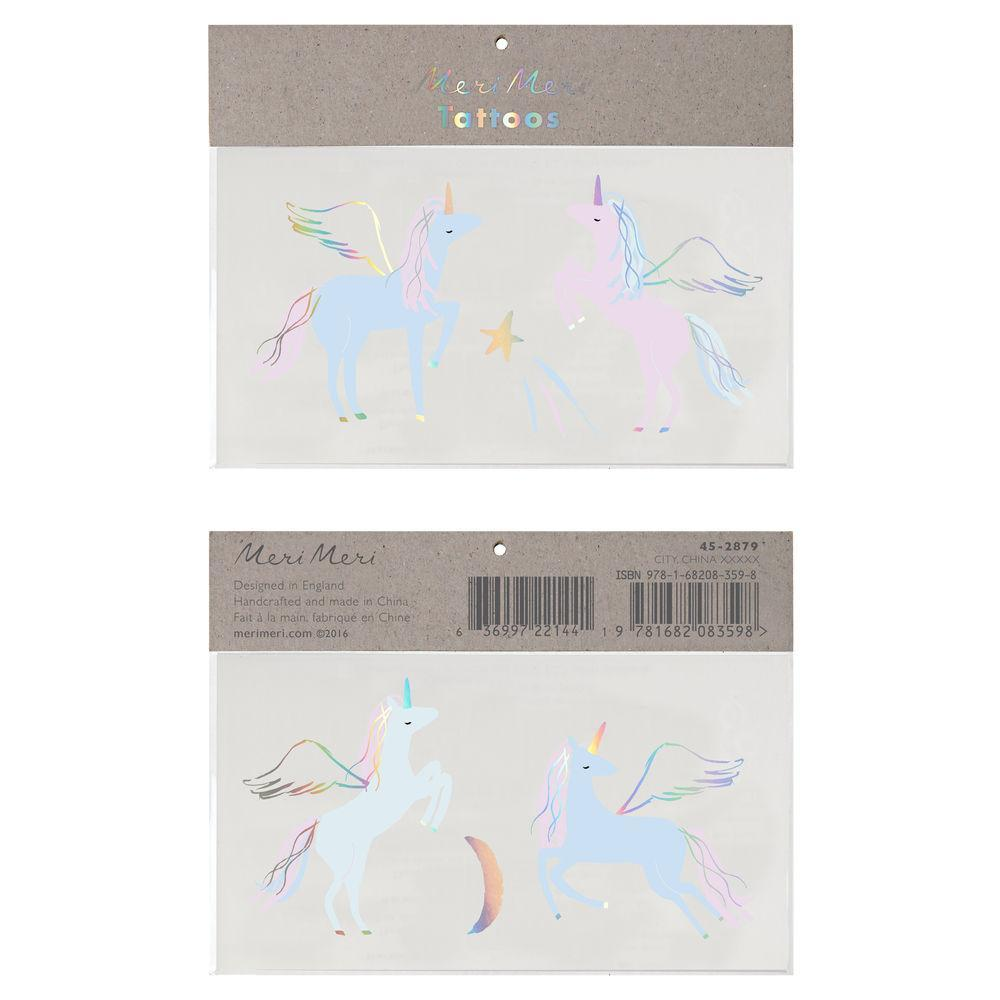 Temporary Tattoo - Unicorns