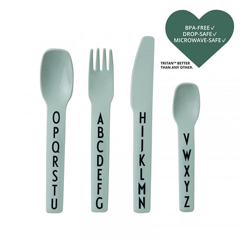 Cutlery Set - Alphabet - Green