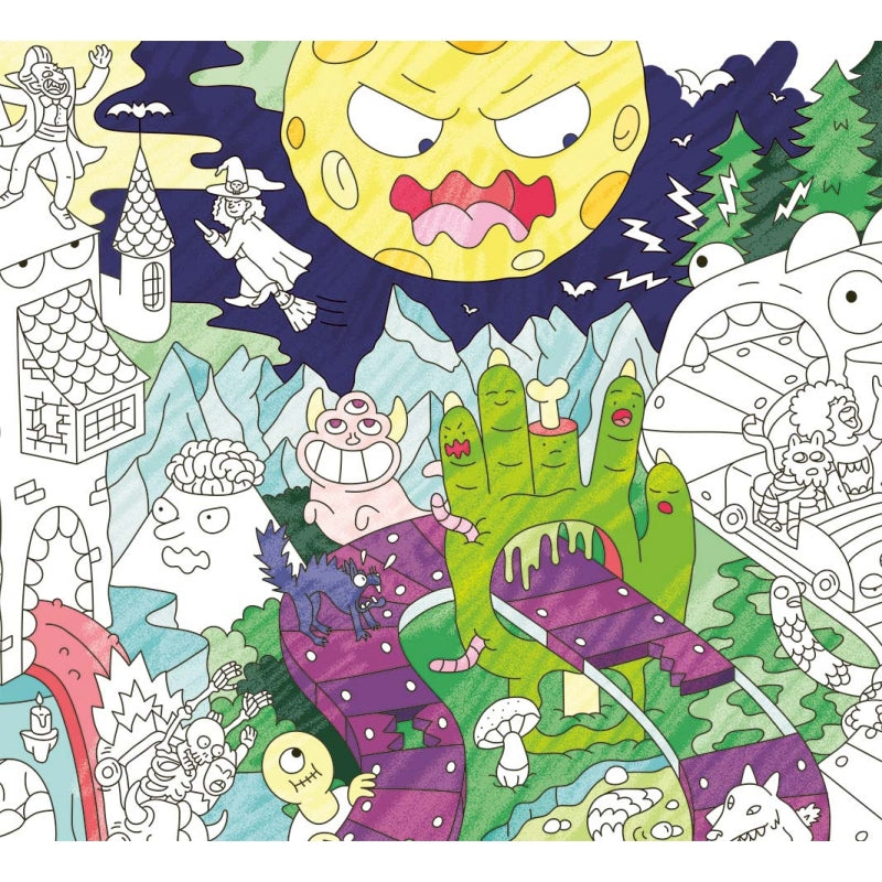 Giant Colouring Poster - Recycled Paper - Zombies