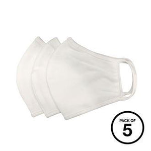 XQ003 Anti-microbial washable face mask (Pack of 5) White / Large (Pack of 5) Schoolwear Centres Covid-19 school-uniform-centres.myshopify.com Schoolwear Centres
