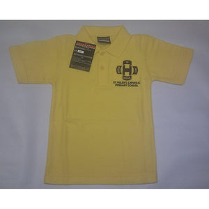 St Helen's Catholic Primary School - Gold (S/S) Polo Shirt with School Logo GOLD / 42 School Uniform Centres Polo Shirts school-uniform-centres.myshopify.com Schoolwear Centres