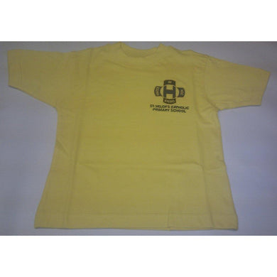 "St Helen's Catholic Primary School -  Gold T-Shirt with School Logo GOLD / 38"" S School Uniform Centres T-Shirts school-uniform-centres.myshopify.com Schoolwear Centres"