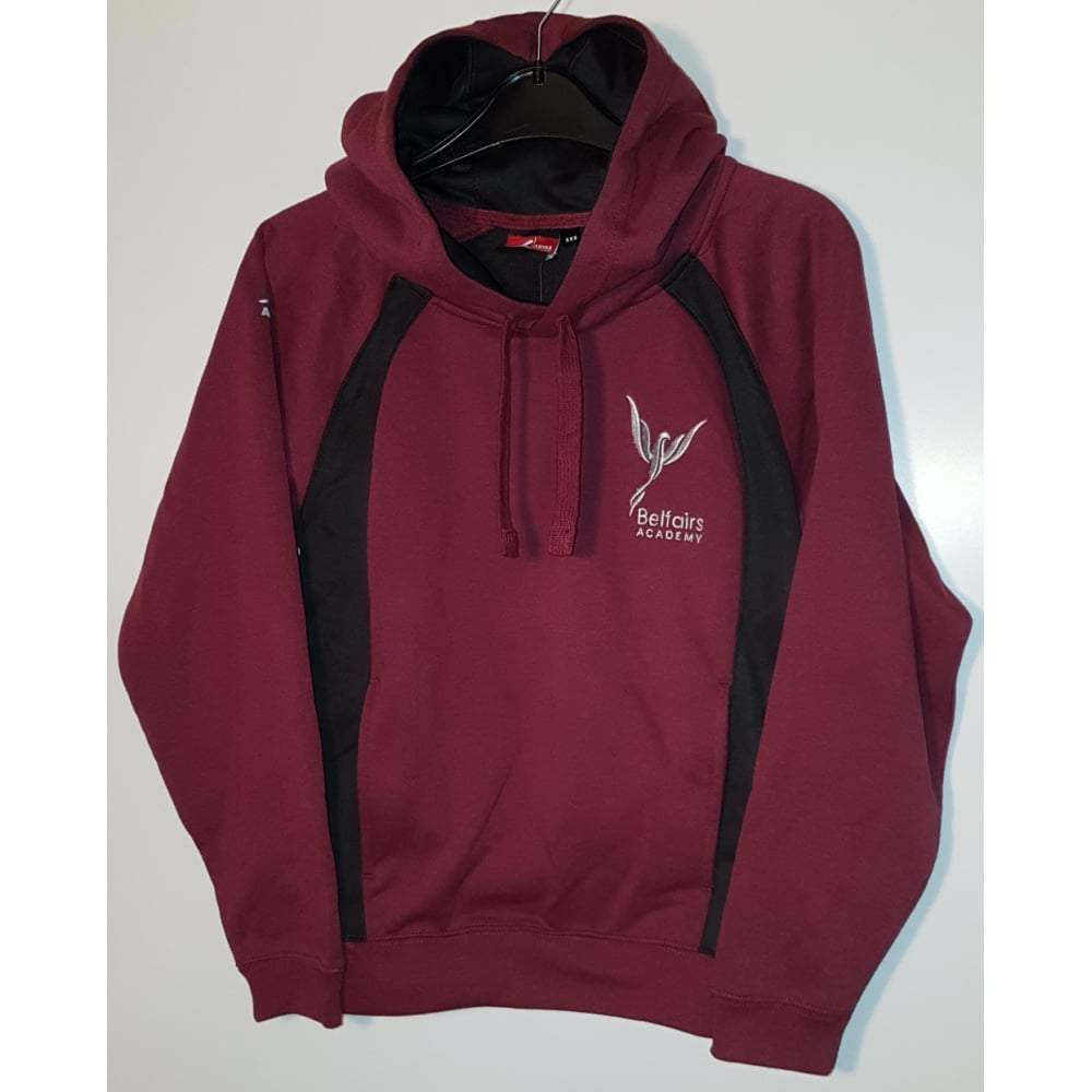 Belfairs Academy - School (Maroon/Black) Hoody with School Logo - Schoolwear Centres | School Uniform Centres