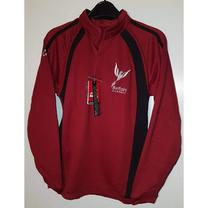 Belfairs Academy - Sports Rugby Top with School Logo MAROON/BLACK / 9-10 Yrs School Uniform Centres RUGBY TOP school-uniform-centres.myshopify.com Schoolwear Centres