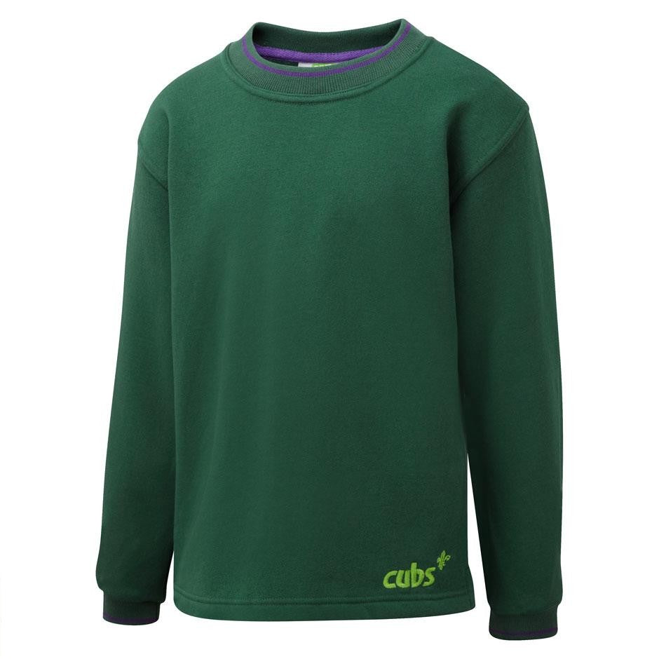 Cub Tipped Sweatshirt BOTTLE / 38 School Uniform Centres Sweatshirts school-uniform-centres.myshopify.com Schoolwear Centres