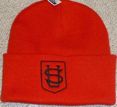 Saint Ursula's Catholic Infant School - Red Beanie / Ski Hats with School Logo | School Uniform Centres
