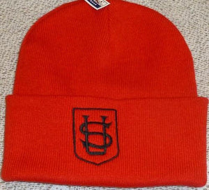 Saint Ursula's Catholic Infant School - Red / Legionnaire Caps and Beanie Hats with School Logo CAPS/HATS / Red Beanie Hat School Uniform Centres Caps school-uniform-centres.myshopify.com Schoolwear Centres