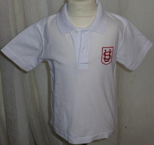 Saint Ursula's Catholic Infant School - White Polo Shirt with School Logo | School Uniform Centres