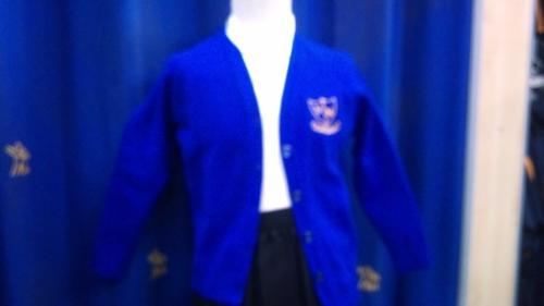 St Nicholas C Of E Primary School - Royal Knitted Cardigan with School Logo - Schoolwear Centres | School Uniform Centres