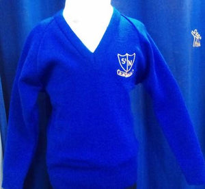 St Nicholas C Of E Primary School -  Royal Knitted (Knitwear) Jumper with School logo - Schoolwear Centres | School Uniform Centres