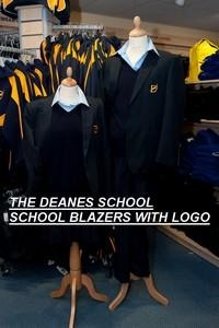 The Deanes School - Navy Boys Blazer with School Logo | School Uniform Centres
