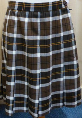 West Leigh School - Brown Tartan Skirt BROWN / 38 School Uniform Centres Skirts school-uniform-centres.myshopify.com Schoolwear Centres