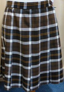 WEST LEIGH SCHOOL - BROWN TARTAN SKIRT