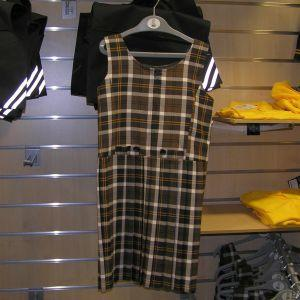 West Leigh School - Tartan Pleated Pinafore BROWN / 38 School Uniform Centres Pinafore school-uniform-centres.myshopify.com Schoolwear Centres