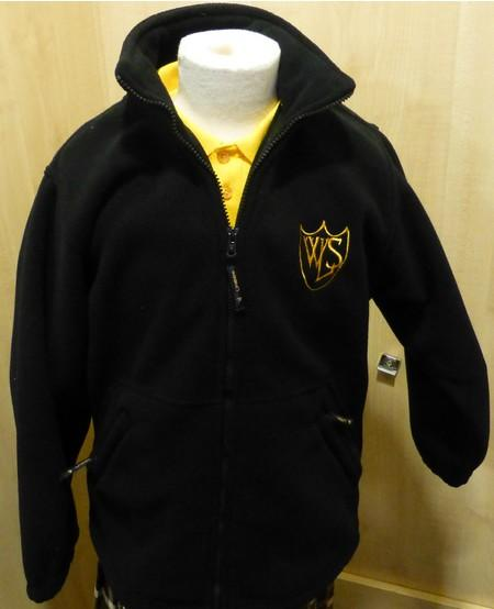 West Leigh School - Black Fleece Jacket with School Logo - Schoolwear Centres | School Uniform Centres
