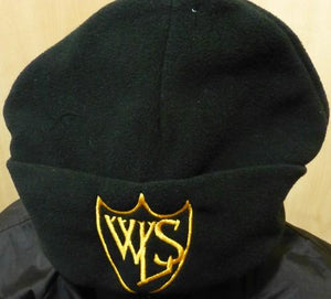 West Leigh School - Black Fleece Hat with School Logo | School Uniform Centres