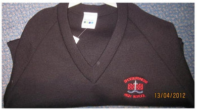 Shoeburyness High School - Black Knitwear (Knitted) Jumper with School Logo | School Uniform Centres