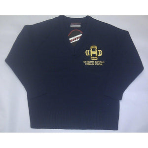 ST HELEN'S CATHOLIC PRIMARY SCHOOL - KNITTED JUMPER WITH SCHOOL LOGO