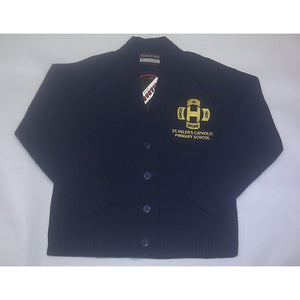 St Helen's Catholic Primary School - Navy Knitted Cardigan with School Logo - Schoolwear Centres | School Uniform Centres