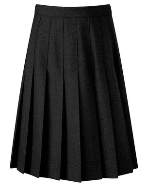 Black Davenport Knife Pleat Skirt - (22W 22L to 38W 22L) - Schoolwear Centres