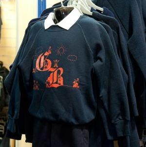 Great Berry Primary School - Navy Nursery Sweatshirt with School Logo | Schoolwear Centres