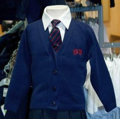 Great Berry Primary - 50% Cotton / 50% Acrylic (Navy) Knitted Cardigan NAVY / 38 School Uniform Centres Knitwear Cardigan school-uniform-centres.myshopify.com Schoolwear Centres