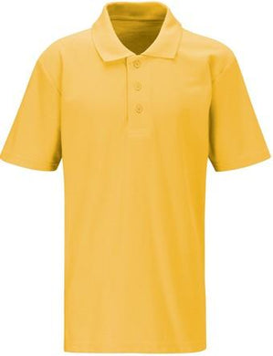 West Leigh School - Gold Polo Shirt (Short Sleeve) with School Logo | Schoolwear Centres