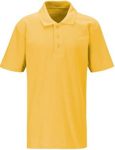 West Leigh School - Gold Polo Shirt (Short Sleeve) with School Logo - Schoolwear Centres | School Uniform Centres